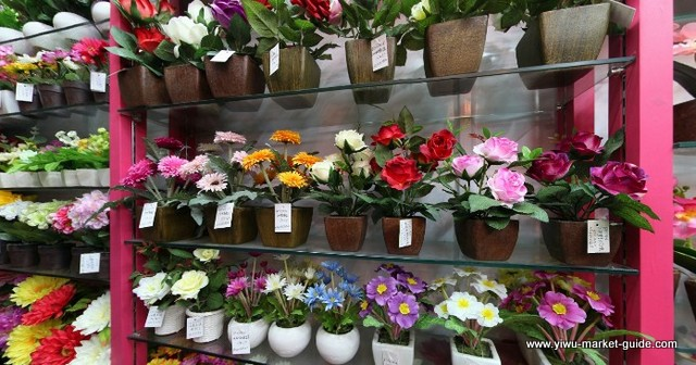 potted-fake-flowers-wholesale-yiwu-china