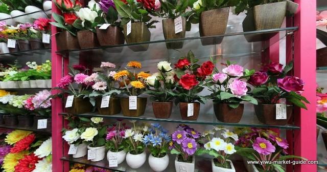 potted-fake-flowers-wholesale-yiwu-china