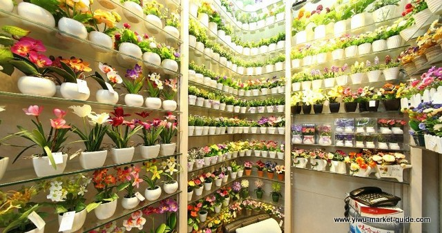 small-potted-faux-flowers-wholesale-yiwu-china