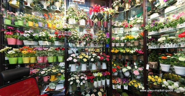 potted-faux-flowers-wholesale-yiwu-china